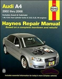 Shop Manual Audi A4 Service Repair Haynes Book Chilton