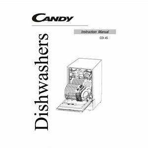 Candy Cdi 45 Dishwasher View Pdf And Manual