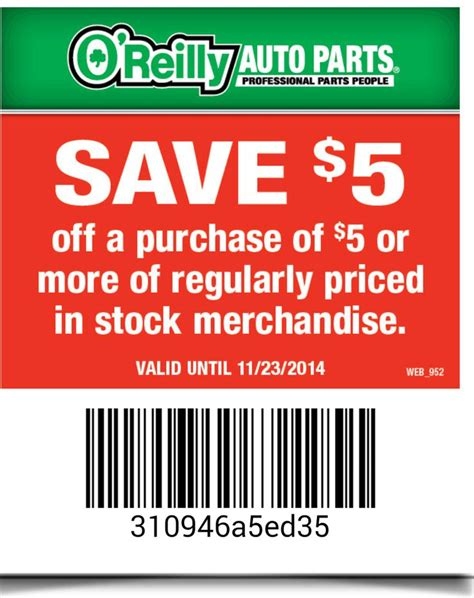 30598 Operation Parts Coupon Code oreillys auto parts coupon kanita springs oregon