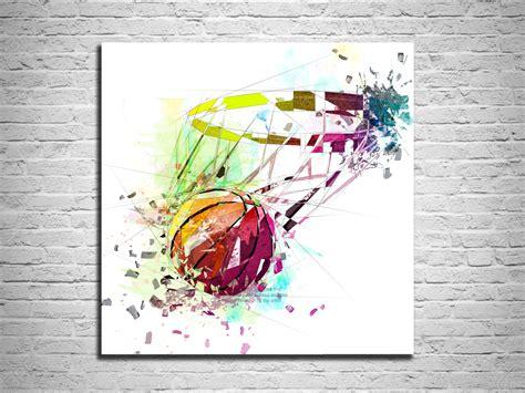 canvas print basketball sports wall basketball