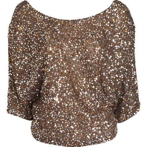 sequin blouses vince sequin blouse in gold lyst