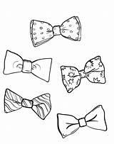 Bow Tie Coloring National August Ties Printable Pages Getdrawings Getcolorings sketch template