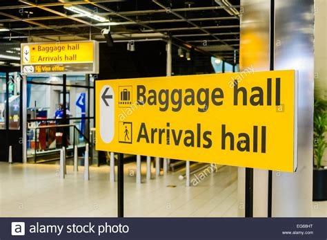 Schiphol Arrival by Sign For The Baggage Hall And Arrivals Hall At Schiphol