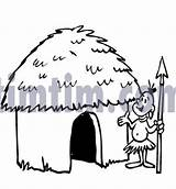 Drawing Drawings African Coloring Huts Timtim Hut Cartoon Tool Mud Bw Tourism Holidays 3d Tools sketch template
