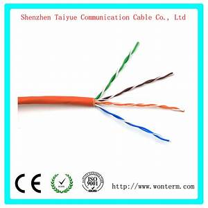 China Cat5e Lan Cable With 350 Mhz Utp 24awg  8c Solid