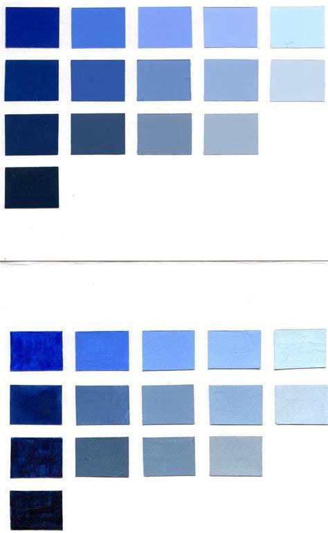 Blue Paint Color Chart