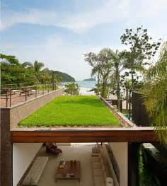 Beachfront House With Rooftop Garden By Original Vision by Modern House Design With Green Roof Design Ideas