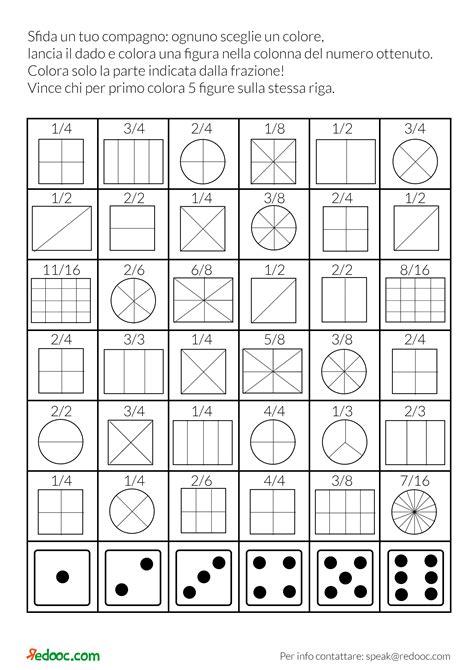 schede di matematica classe terza elementare da stare cos 232 una frazione per scuola primaria redooc