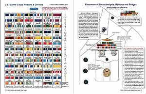 Coast Guard Medals And Awards Chart United States Marine Corps Military Ribbon Medal Wear
