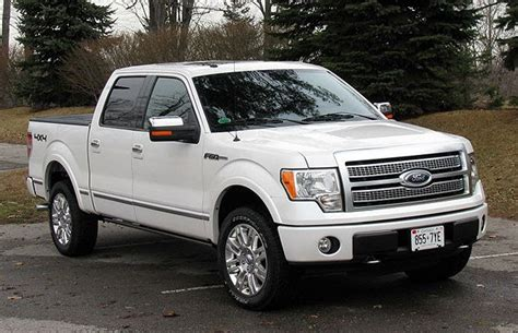 pickup review  ford   platinum driving