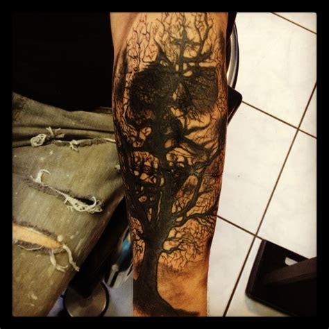Dead Tree Skull Reflection Tattoo Did Month Ago