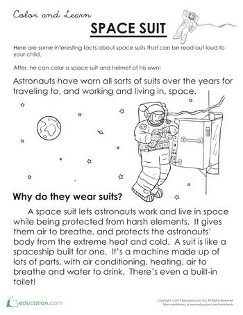 space suit  images reading