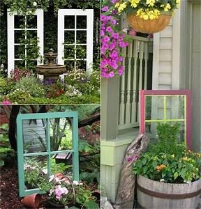 Alte Fensterrahmen Gestalten : alte fenster mit oder ohne glas als gartendeko verwenden ~ Lizthompson.info Haus und Dekorationen