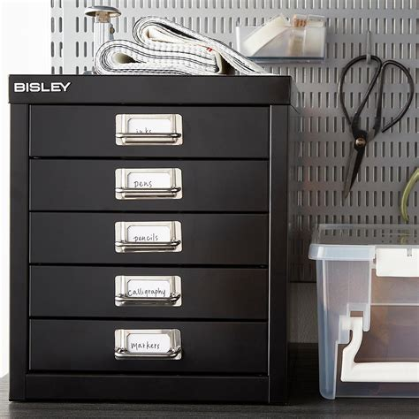 Bisley 5 Drawer Cabinet by Bisley Black 5 Drawer Cabinet The Container Store