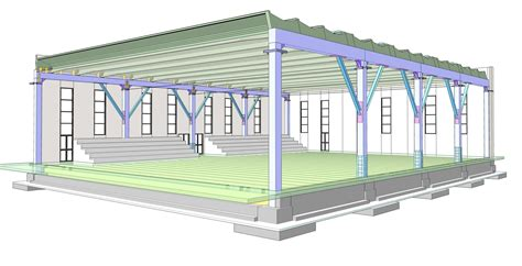 Capannone Dwg by Progetto Capannone Industriale Dwg Spazio