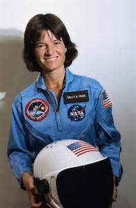 sally ride, first American female sent in outer space...in ...
