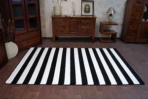 Teppich Schwarz Weiß Gestreift : 6 gr en modern weich teppich sketch f758 wei schwarz breit gestreift streifen ebay ~ Whattoseeinmadrid.com Haus und Dekorationen