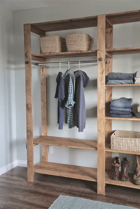 Armoire Cabinet Into A Bar by Ana White Industrial Style Wood Slat Closet System With
