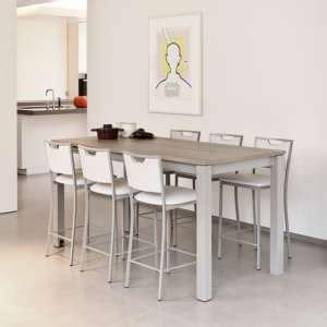 table cuisine rectangulaire table haute 4 pieds