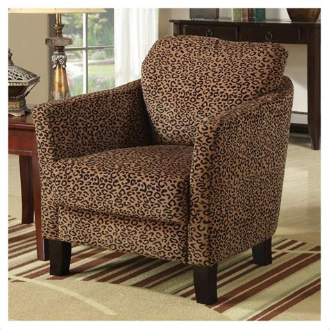 coaster club cheetah print accent chair ebay