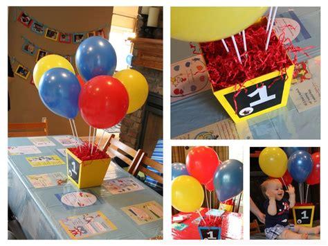 Balloon Centerpieces Curious George Pinterest