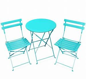 Salon De Jardin Pliant : salon de jardin pliant pop bleu turquoise brillant 2 ~ Dailycaller-alerts.com Idées de Décoration