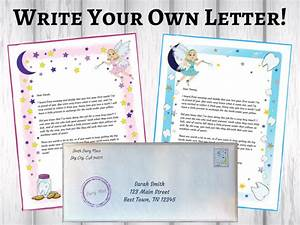 personalized tooth fairy letter printable fun easy With personalized letters with pictures