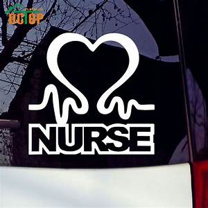 Online get cheap nurse stickers aliexpresscom alibaba for Cheap vehicle lettering