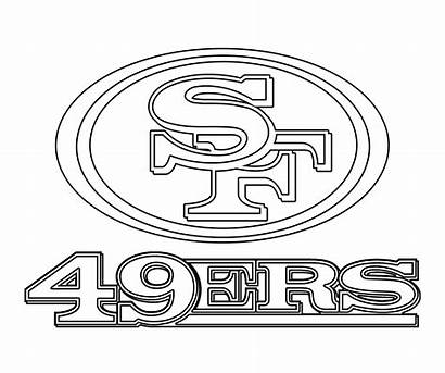 49ers Francisco San Coloring Pages Vector Drawing