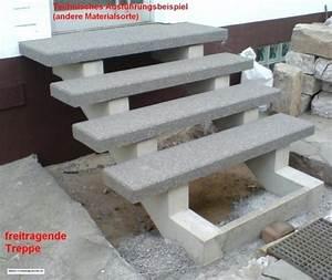 Treppenstufen Außen Beton : treppe freitragend ~ Frokenaadalensverden.com Haus und Dekorationen