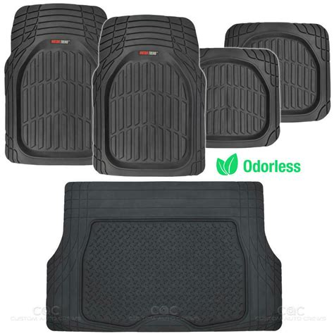 Mat Weather - black dish all weather hd rubber mats package 5pc
