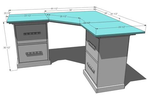 ana white office corner desktop plans diy projects