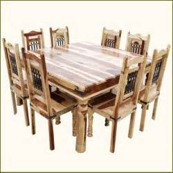 dining room table sets 9pc rustic square dining room table chair set for 8 traditional dining sets