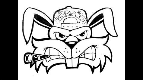Graffiti Wizard Mudah : Cool Skull Drawing Of Gangsta Cartoons