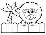 Zoo Coloring Pages Printable Lion Getdrawings sketch template