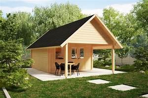 Gartenhaus Mit Vordach : gartenhaus mit vordach mark 16m 44mm 4x4m hansagarten24 ~ Udekor.club Haus und Dekorationen