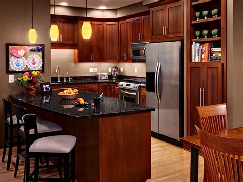 tops kitchen cabinet cherry cabinets kitchen wood with black granite and 2870
