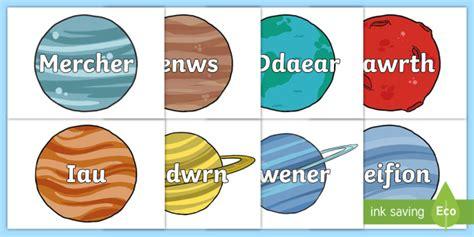* New * Posteri Arddangos Enwau'r Planedau Ar Blanedau  Planets, Posters