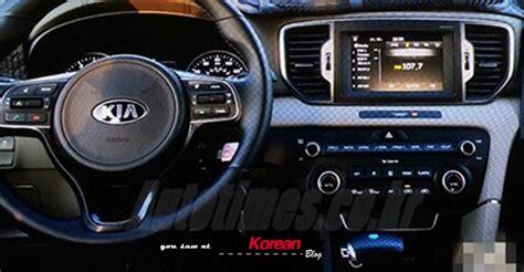 kia sportage 2016 interior scooped 2016 sportage interior undisguised the korean