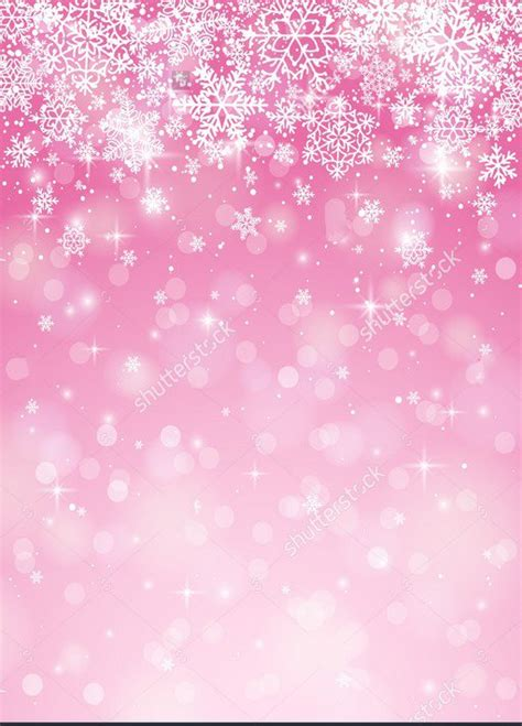 Silver Pink Snowflake Background by Pink Snowflake Backgrounds Vinyl Cloth High