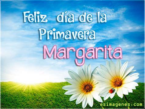 Feliz Día de la Primavera Margarita Tarjetas con Nombres