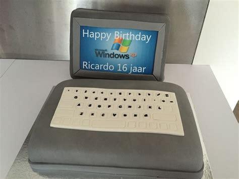 meer   ideeen  computer taart op pinterest