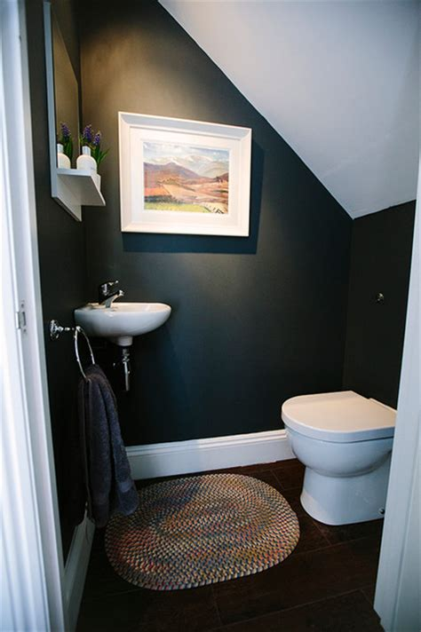 ideas for small dining rooms stairs toilet contemporary powder room