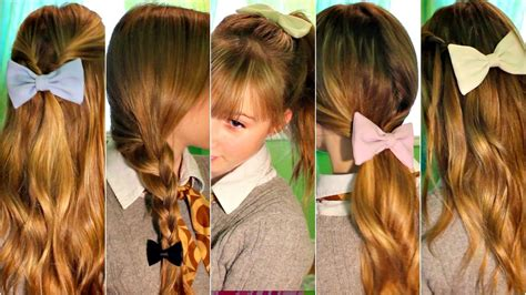 hair styles with bows simple fall hairstyle easy heatless hairstyles