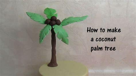 gumpaste coconut tree   cake english