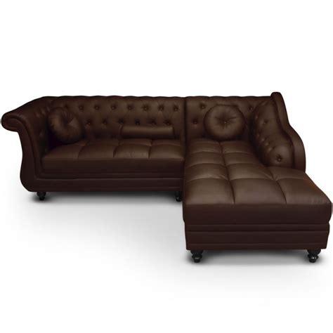 canapé droit 5 places canapé d 39 angle droit 5 places marron cuir simili pas cher