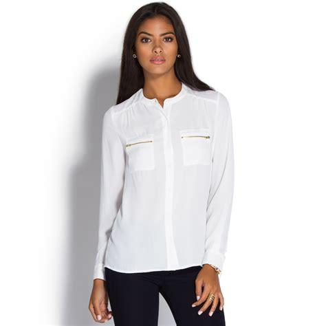 Fursia Tunic Pocket zipper pocket tunic top shoedazzle