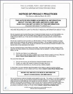 hitech compliant notice of privacy practices template With notice of privacy practices template