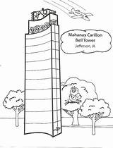 Tower Bell Coloring Pages sketch template