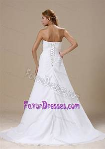 dramatic wedding gowns with ruched bodice and appliques in With low cost wedding dresses